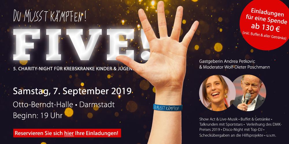 FIVE! - die Charity-Night von DUMUSSTKÄMPFEN!