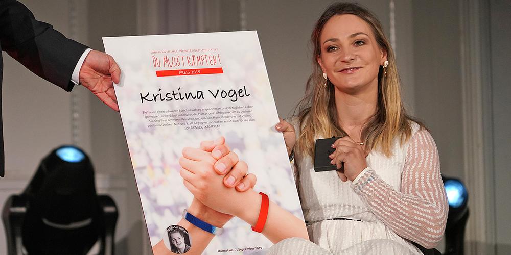 Kristina Vogel – Preisträgerin des DMK Awards 2019